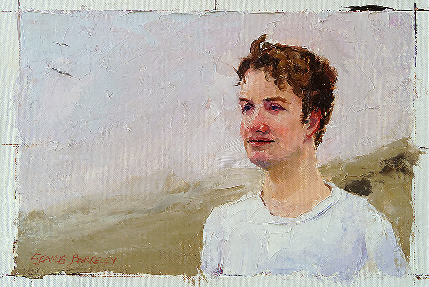Carter Fife Study 01 Signed Study Feature Portrait Painting Seamus Berkeley