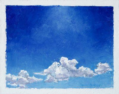 White Below, Blue Above Painting Seamus Berkeley