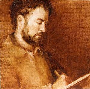 David Portrait Painting Seamus Berkeley