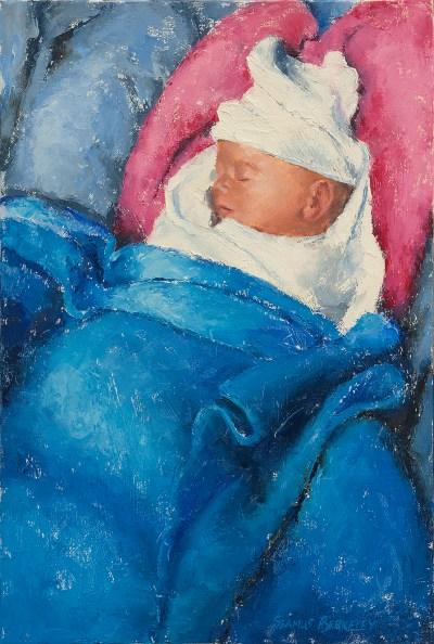 Infant Portrait Painting Seamus Berkeley