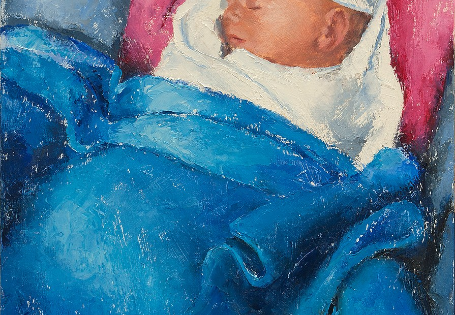 Infant Portrait Painting Seamus Berkeley