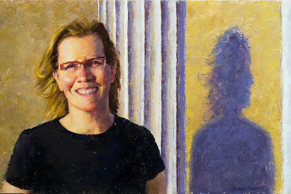 Joan Fife Home Portrait Painting Seamus Berkeley