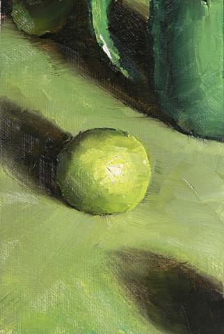 Limes on Green Painting Seamus Berkeley