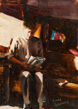 Patrick Reading Painting Seamus Berkeley