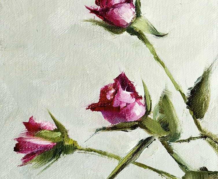 Roses Painting Seamus Berkeley