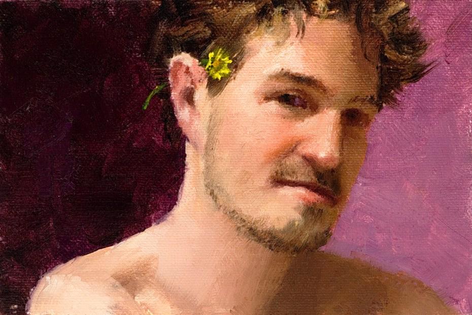 Rusty Portrait Painting Seamus Berkeley