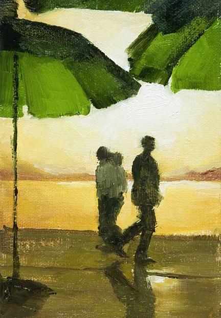 Silhouettes Painting Seamus Berkeley