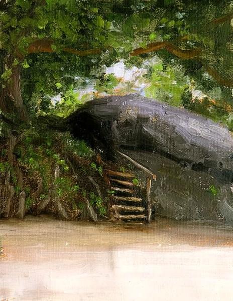 Stairs Koh Pha-ngan Painting Seamus Berkeley