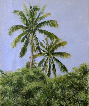 Two Palms Thailand Painting Seamus Berkeley