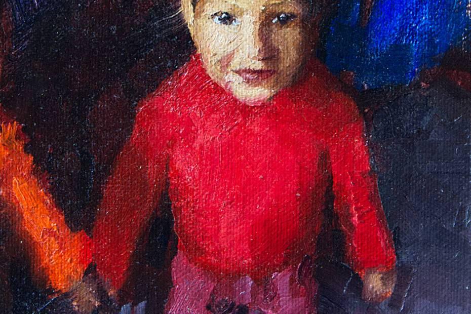 Young Neighbor Boy Painting Seamus Berkeley