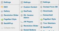 How to make a nice tidy WordPress admin menu!