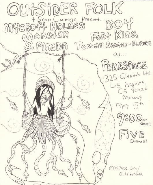 TONITE: FOLKIN' A! IT'S A MIND-BLOWING OUTSIDER FOLK/SEAN CARNAGE COLLABO AT PEHRSPACE!!!