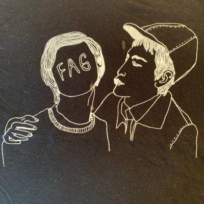 "Vintage DIY ""FAG"" T-shirt"