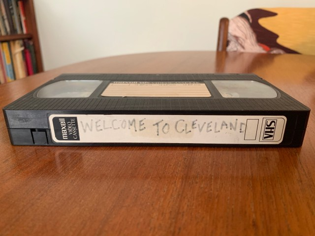 Welcome to Cleveland VHS tape by Ryan Kennedy