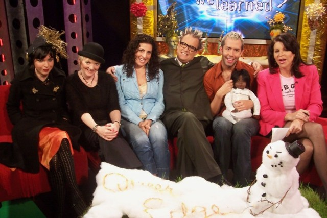 Nora Keyes, guest co-host Alison Arngrim, Kira Soltanovich, Jack E. Jett, Coby Archa, and Jackie Enx.