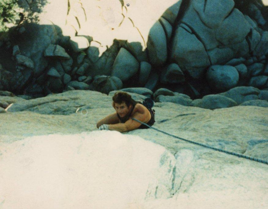 Steve Jones rock climb