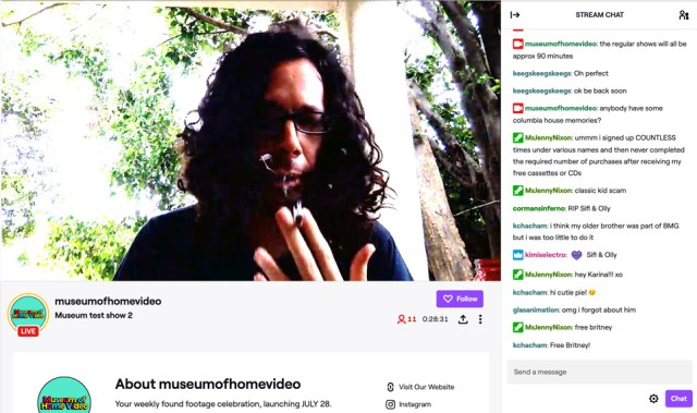 Museum of Home Video Twitch