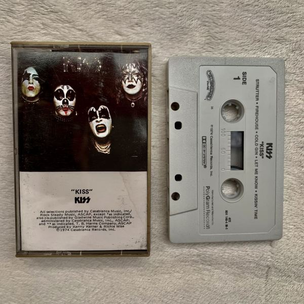 Kiss debut album original cassette