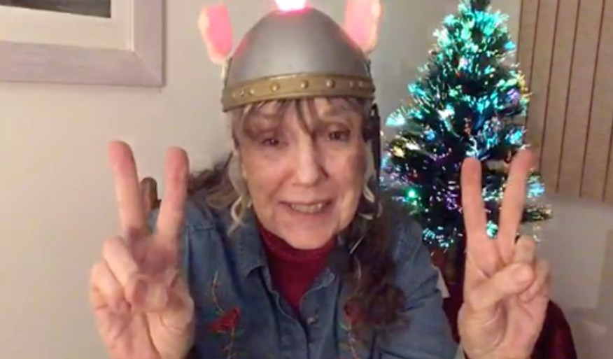 The Space Lady Susan Dietrich Schneider Chaki Christmas