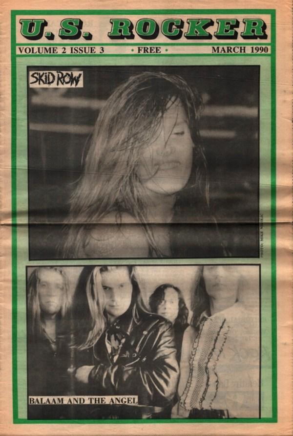 U.S. Rocker Cleveland March 1990 Skid Row Balaam and the Angel