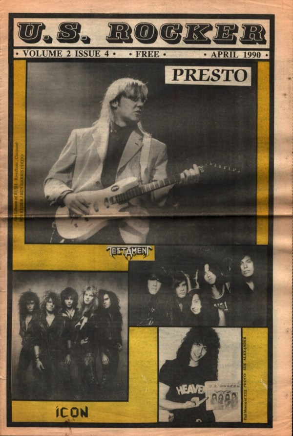 U.S. Rocker April 1990 Cleveland Rush Testament Icon XYZ
