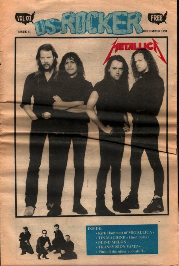 U.S. Rocker, December 1991 Cleveland Metallica Kirk Hammett David Bowie Tin Machine Blind Melon