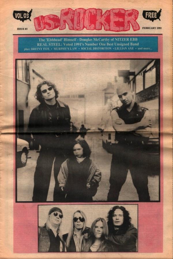 U.S. Rocker, February 1992 Cleveland Nitzer Ebb Real Steel