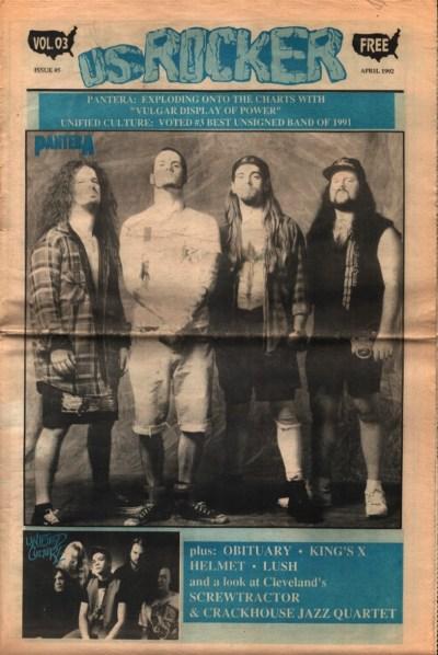U.S. Rocker, April 1992