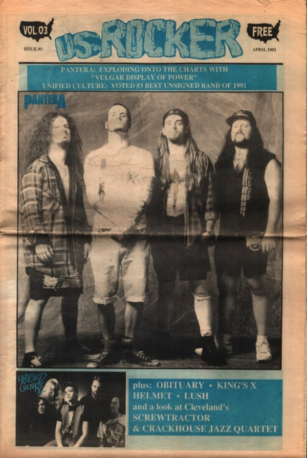 U.S. Rocker, April 1992 Cleveland Pantera Unified Culture Helmet