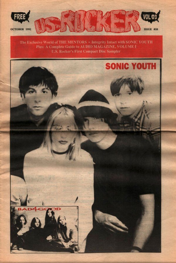 U.S. Rocker, October 1992 Cleveland Sonic Youth Bad4Good The Mentors