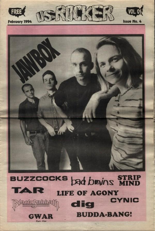 U.S. Rocker, February 1994 Cleveland Jawbox