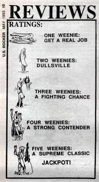 U.S. Rocker ratings Weenies