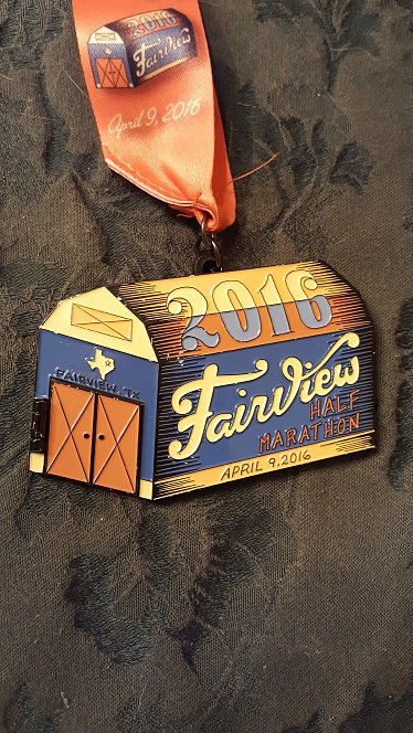 2016 Fairview Half Marathon Medal