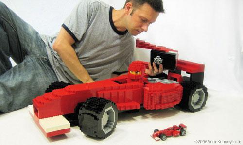 Sean Kenney  Art with LEGO bricks  Formula One race car