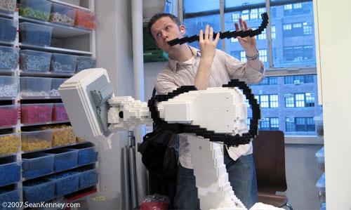 Sean Kenney  Art with LEGO bricks  A big LEGO medical robot