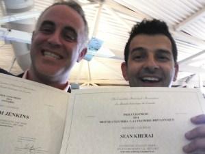 Jenkins and Kheraj celebrate dual Clio Prizes at CHA annual meeting at Brock University.