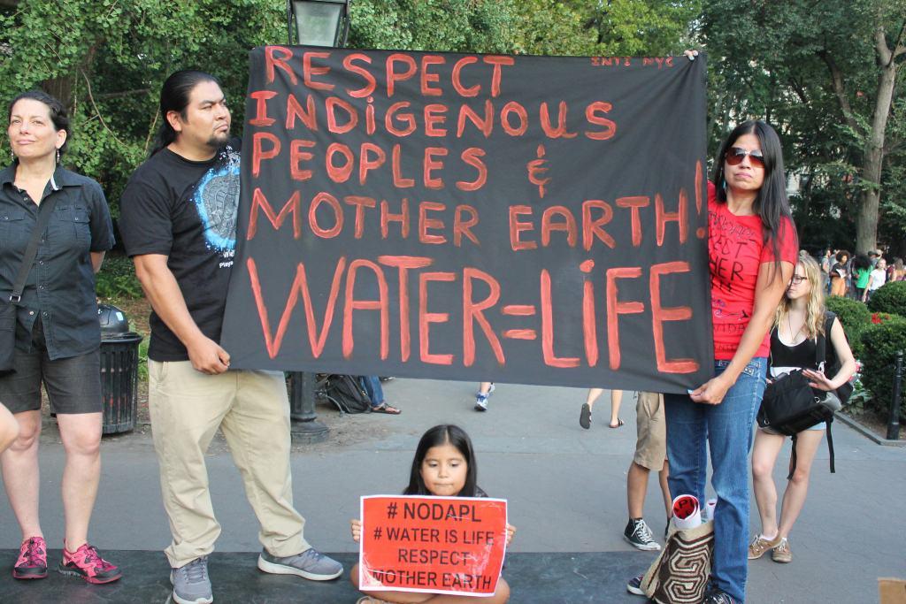 New York City rally in support of Standing Rock Water Protectors. Source: Joe Catron, Flickr.