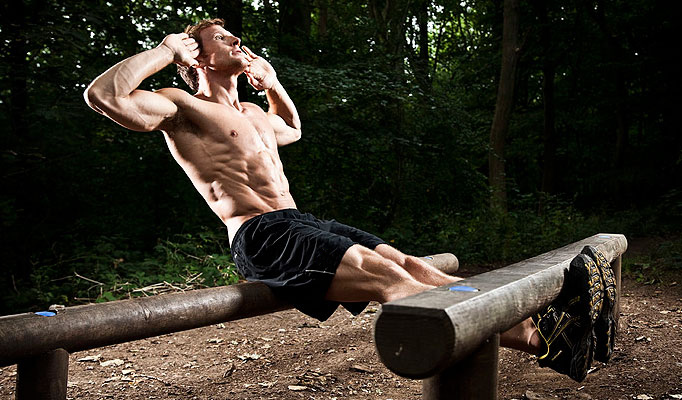 Sean Lerwill outdoors sit-up