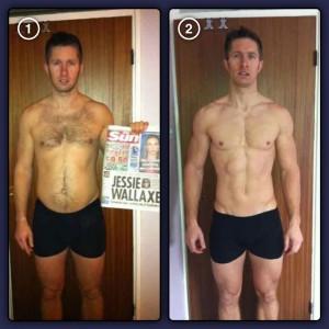 Damian Murray's body transformation by Sean Lerwill