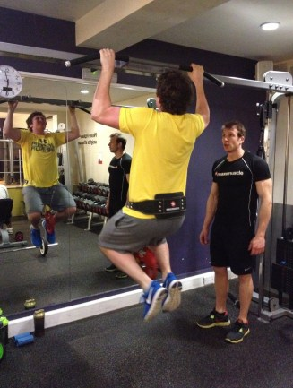 Ollie Ward weight pull-ups