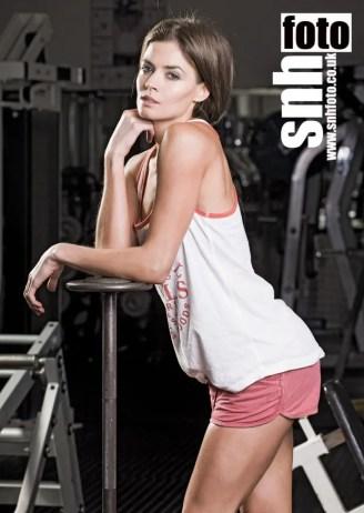 female fitness model toned fgure attractive