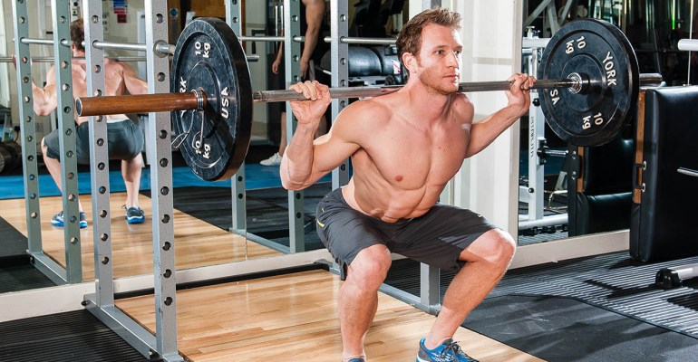 Sean Lerwill barbell squats