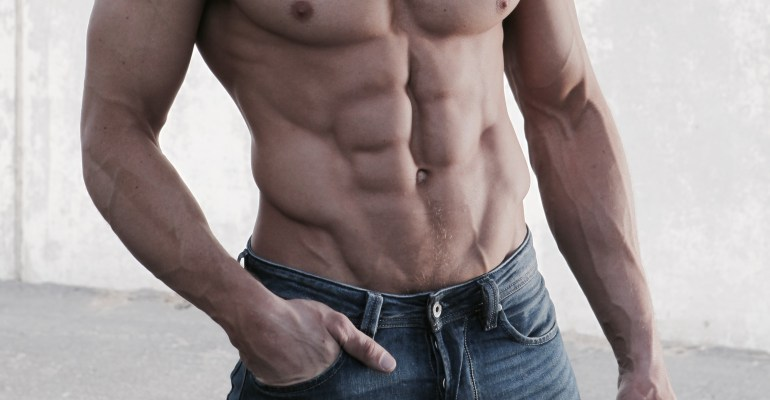 Sean Lerwill's six-pack abs
