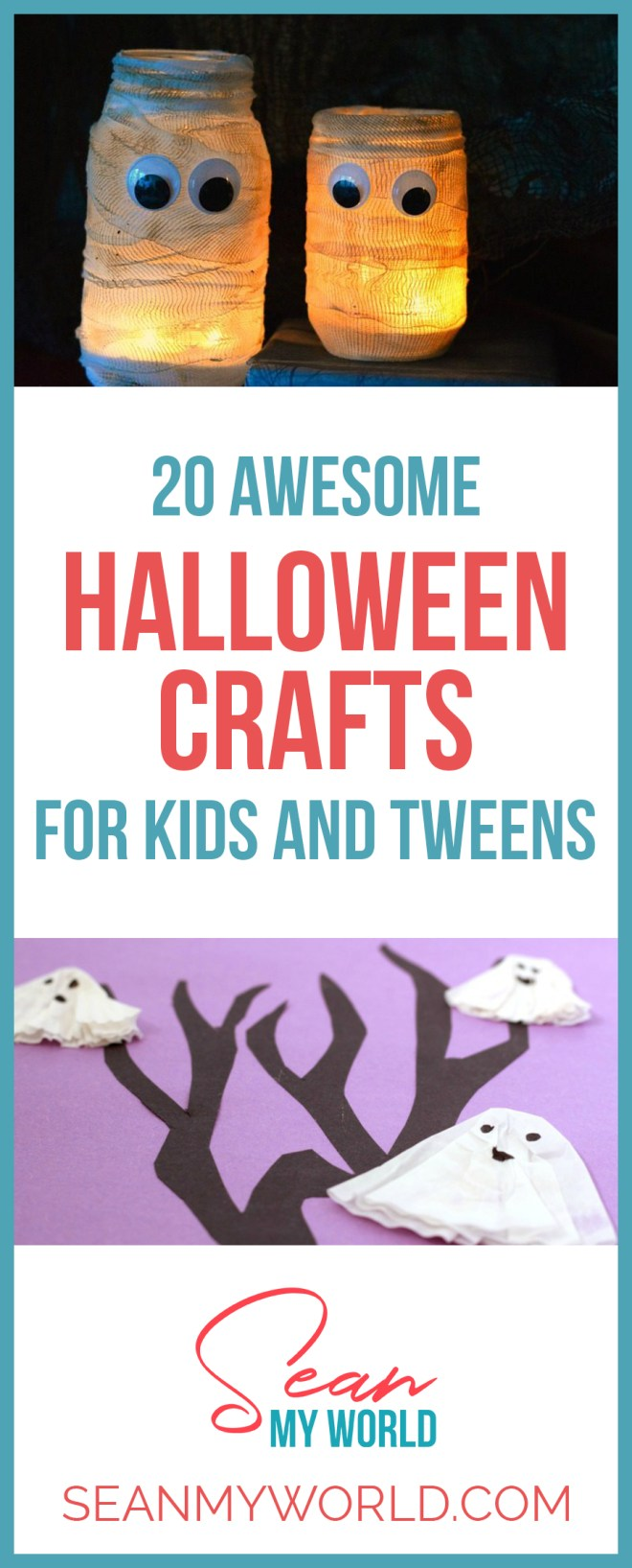 Looking for Halloween crafts for children? Then check out these 20 awesome Halloween crafts for tweens, teens and kids. They'll love these!