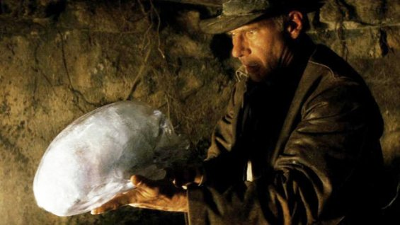 Indiana Jones has a close encounter with an alien artifact