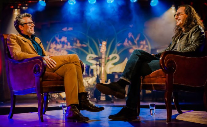 "Author Michael Chabon interviews Rush's Geddy Lee for the PBS series ""Speakeasy"""