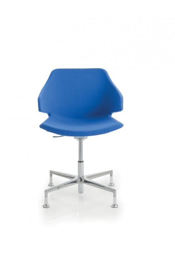fauteuil pivotant meraviglia pied etoile 4 branches en tissu ou cuir