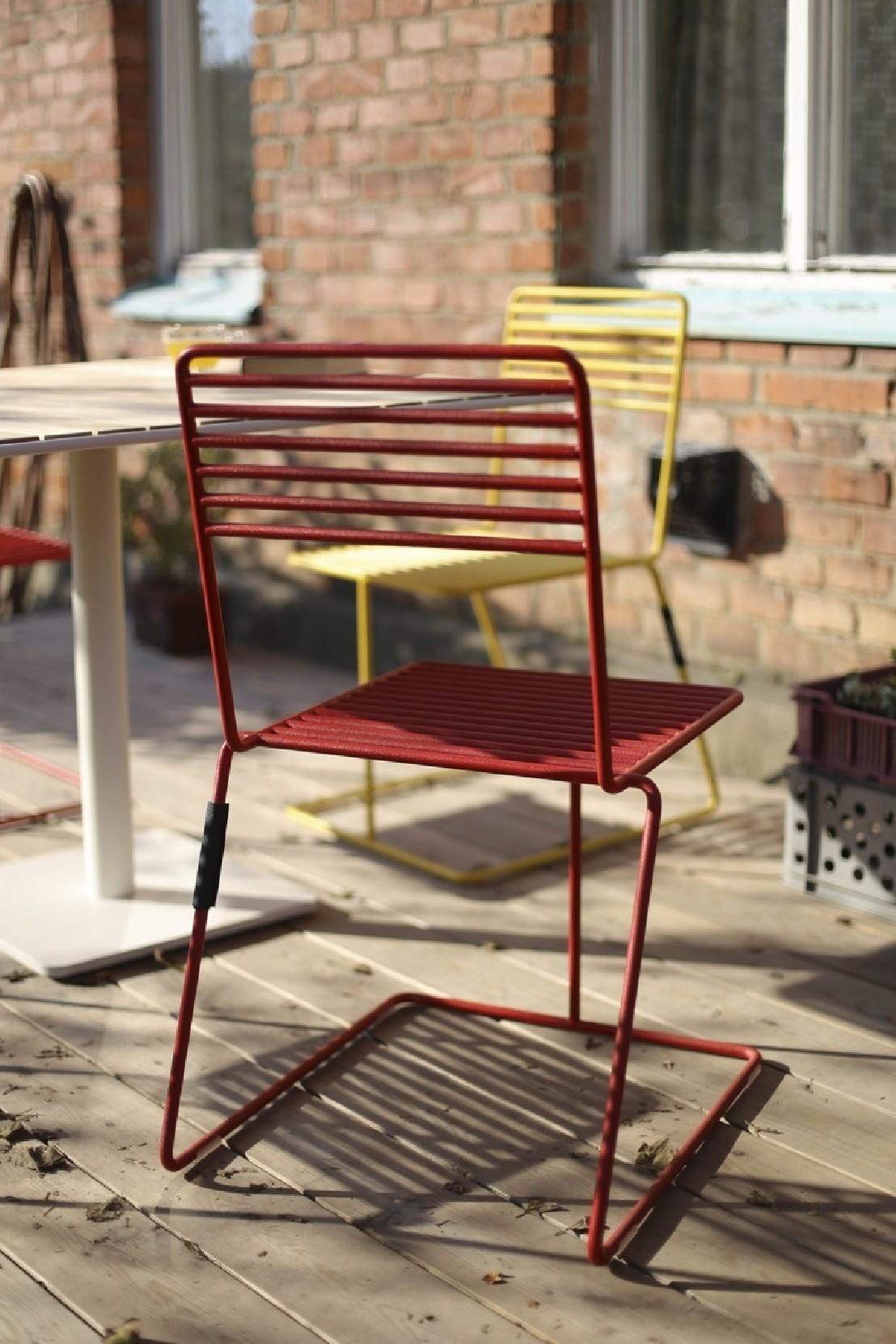 Chaise Design En Mtal Acier De Couleur De Jardin TINA By EGOE