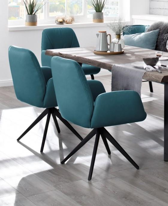 petits fauteuils cuir par 4 pour table a manger ou cuisine swingtwo