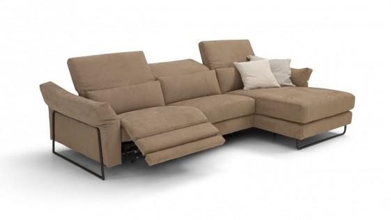 jahny l canape d angle 4 places relax electrique tissu ou cuir